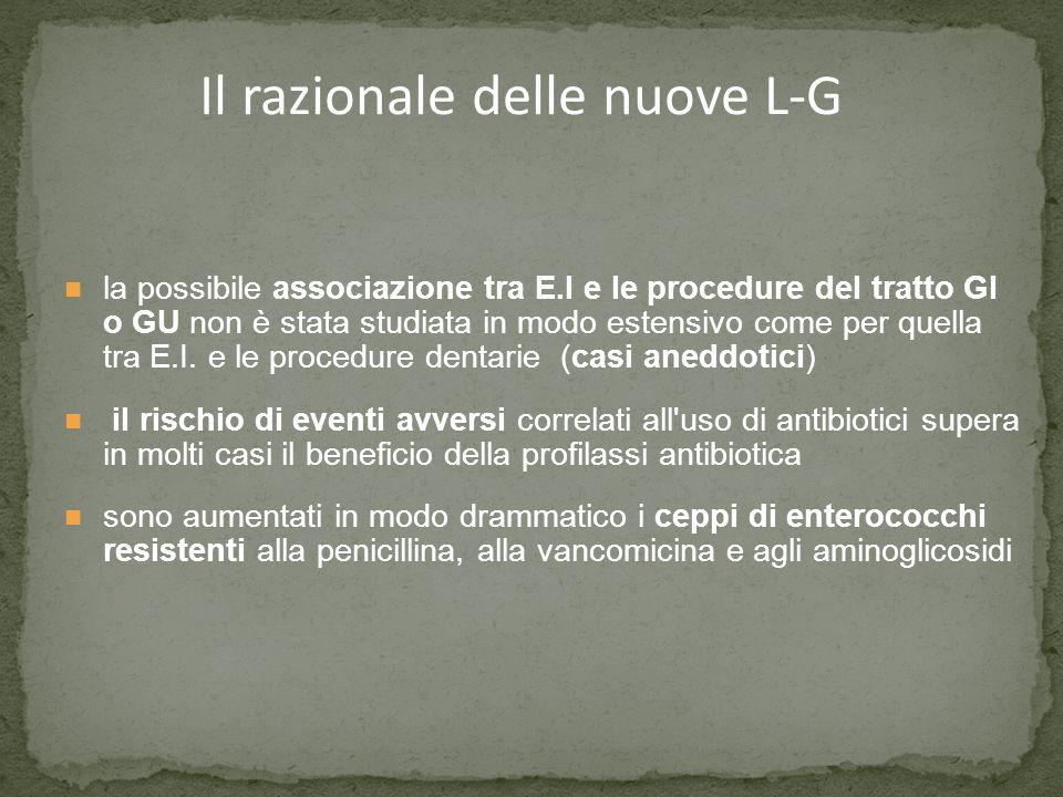 Il razionale delle nuove L-G