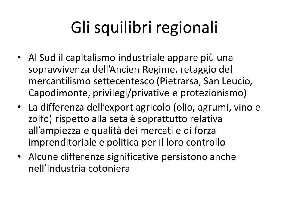 Gli squilibri regionali