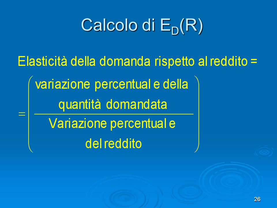 Calcolo di ED(R)