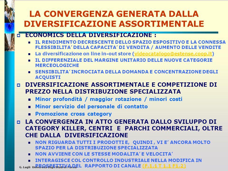 LA CONVERGENZA GENERATA DALLA DIVERSIFICAZIONE ASSORTIMENTALE