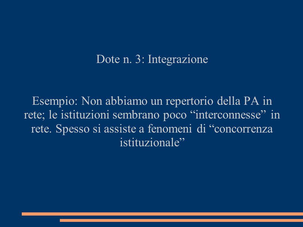 Dote n. 3: Integrazione