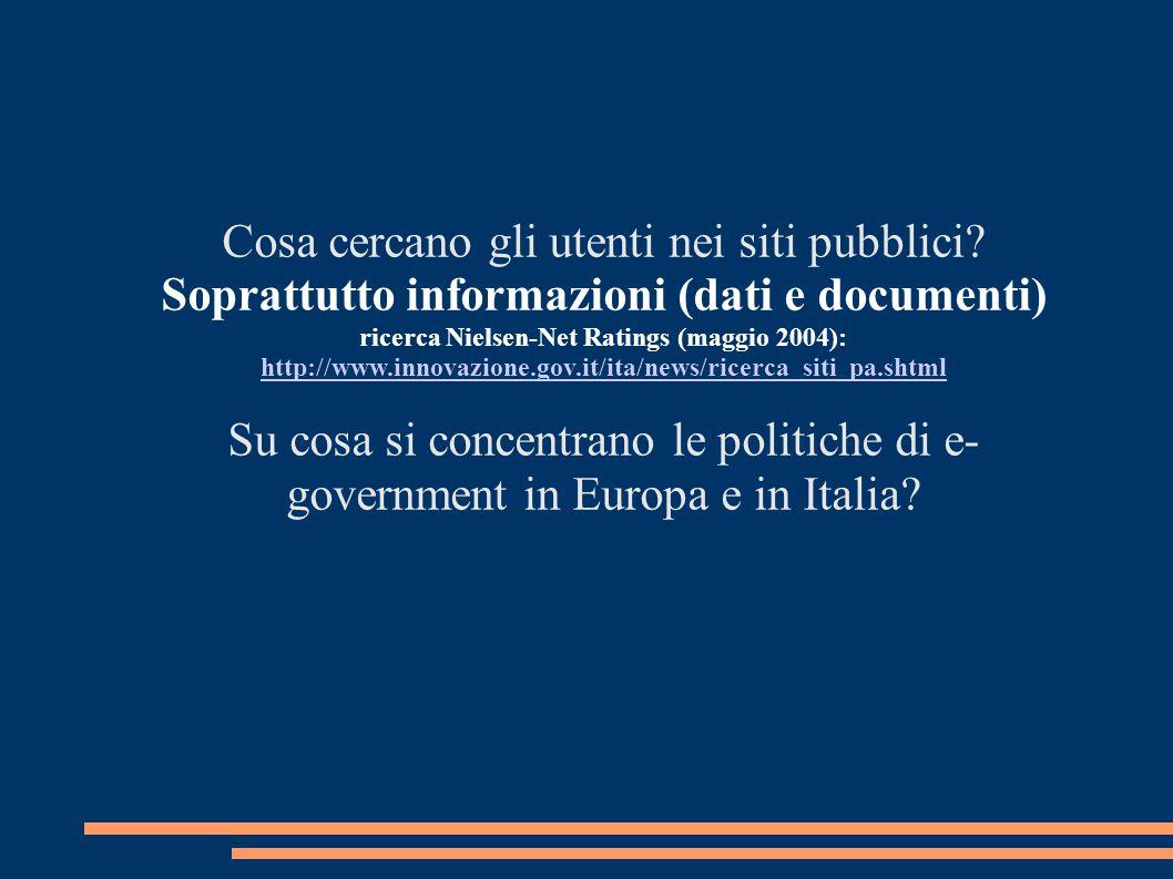 Soprattutto informazioni (dati e documenti)