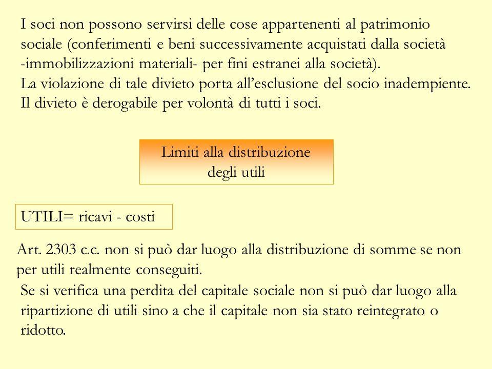 Limiti alla distribuzione degli utili