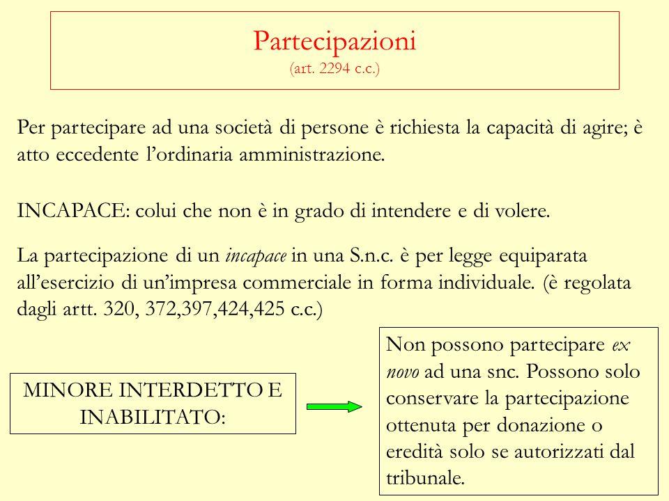 Partecipazioni (art. 2294 c.c.)