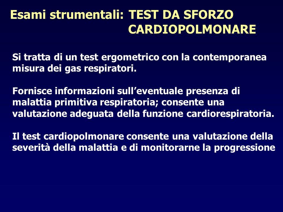 Esami strumentali: TEST DA SFORZO CARDIOPOLMONARE