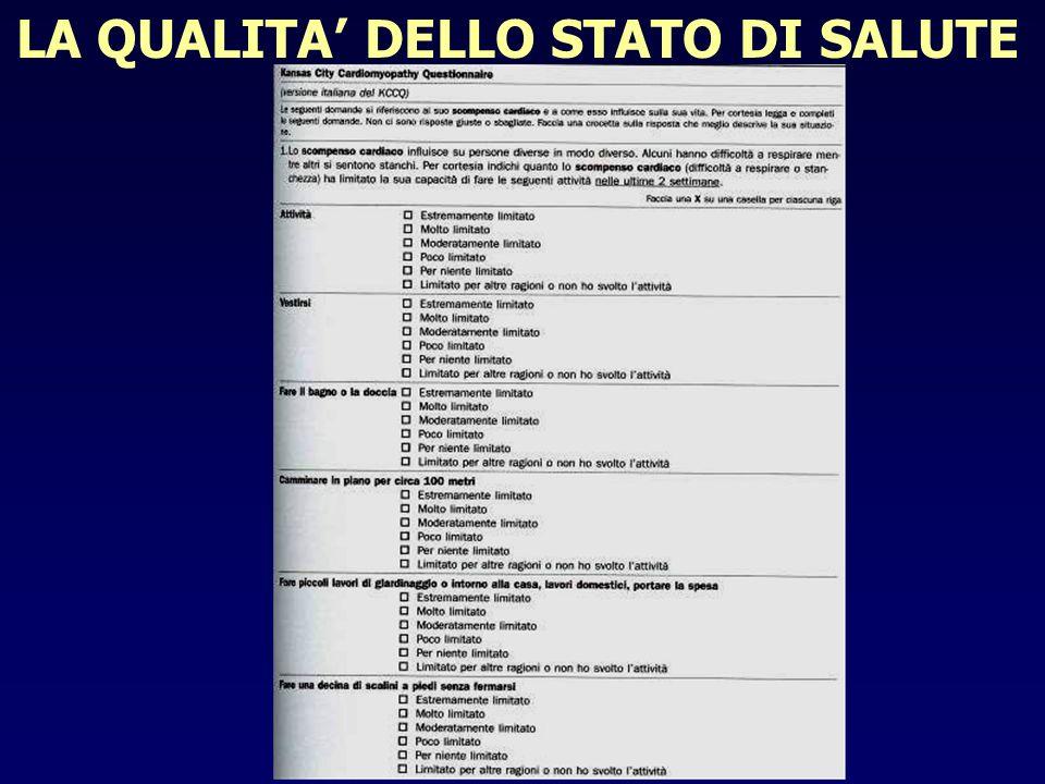 LA QUALITA' DELLO STATO DI SALUTE