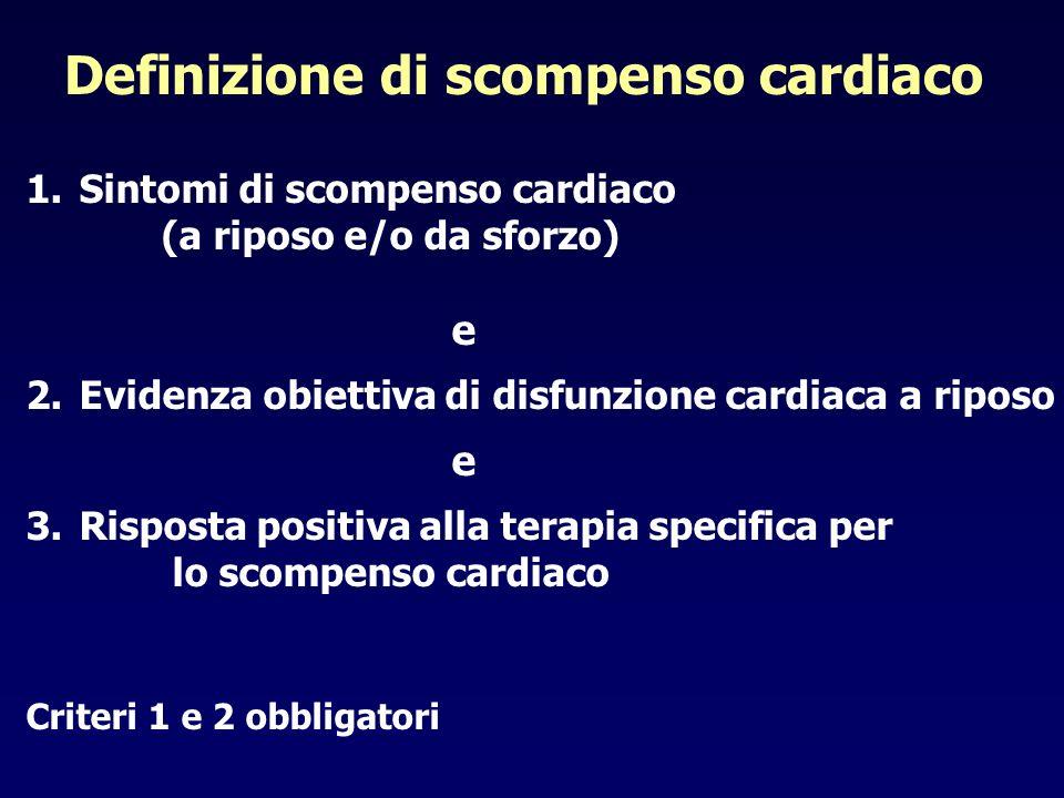 Definizione di scompenso cardiaco