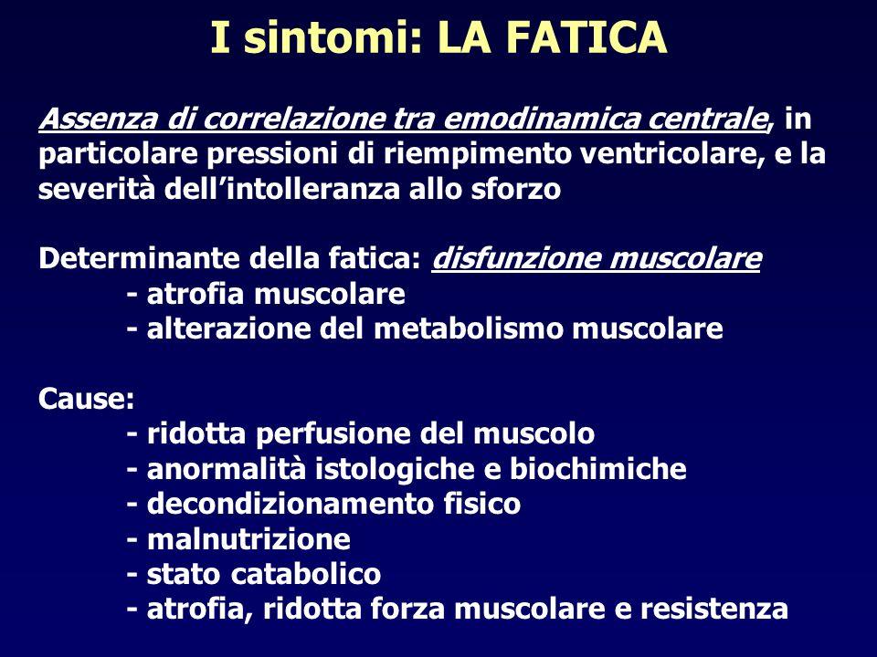 I sintomi: LA FATICA