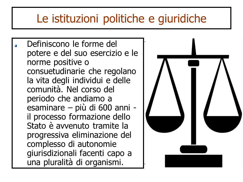 Le istituzioni politiche e giuridiche