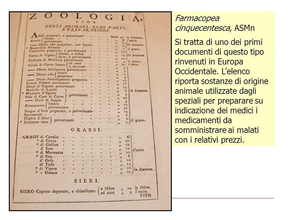 Farmacopea cinquecentesca, ASMn