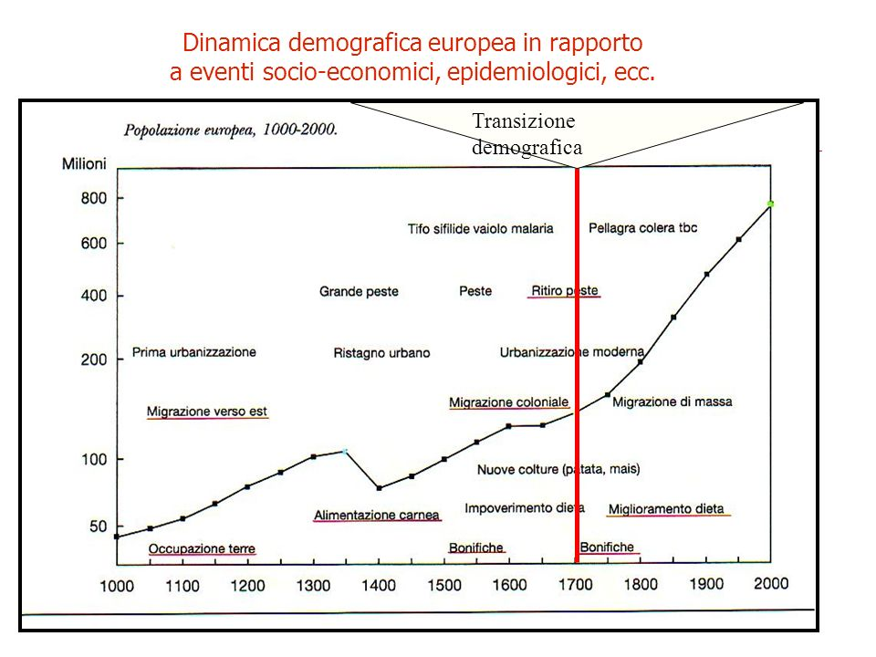 Dinamica demografica europea in rapporto