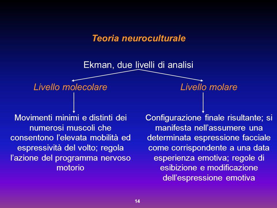Teoria neuroculturale Ekman, due livelli di analisi