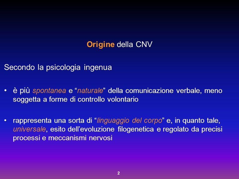 Secondo la psicologia ingenua