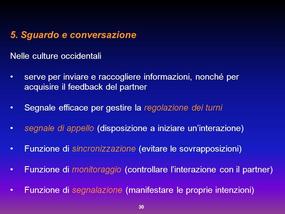 5. Sguardo e conversazione