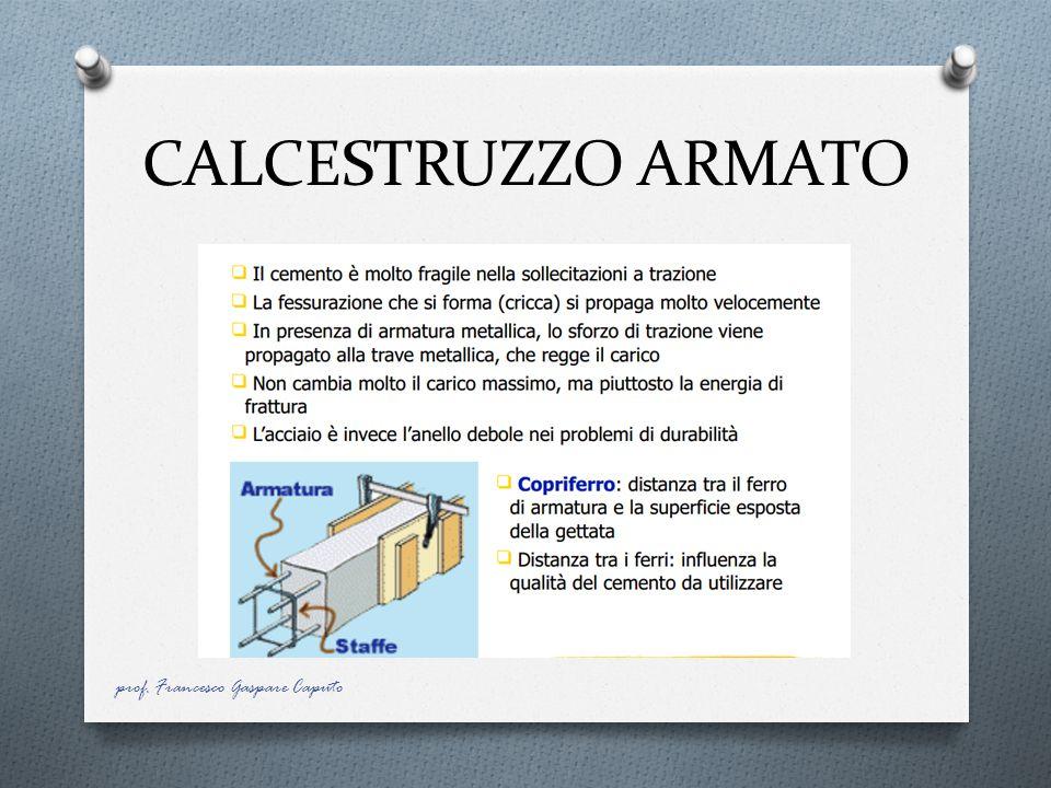 CALCESTRUZZO ARMATO prof. Francesco Gaspare Caputo
