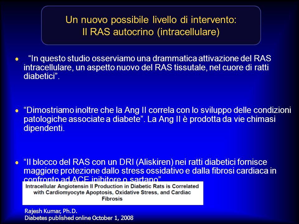 Un nuovo possibile livello di intervento: Il RAS autocrino (intracellulare)