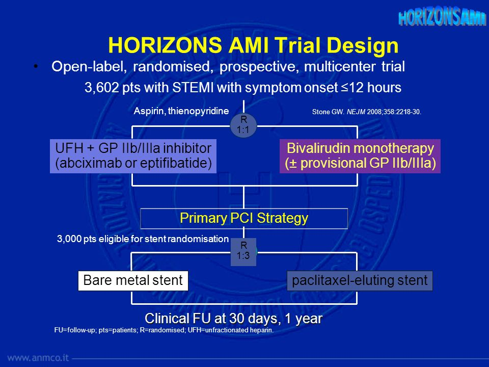 HORIZONS AMI Trial Design