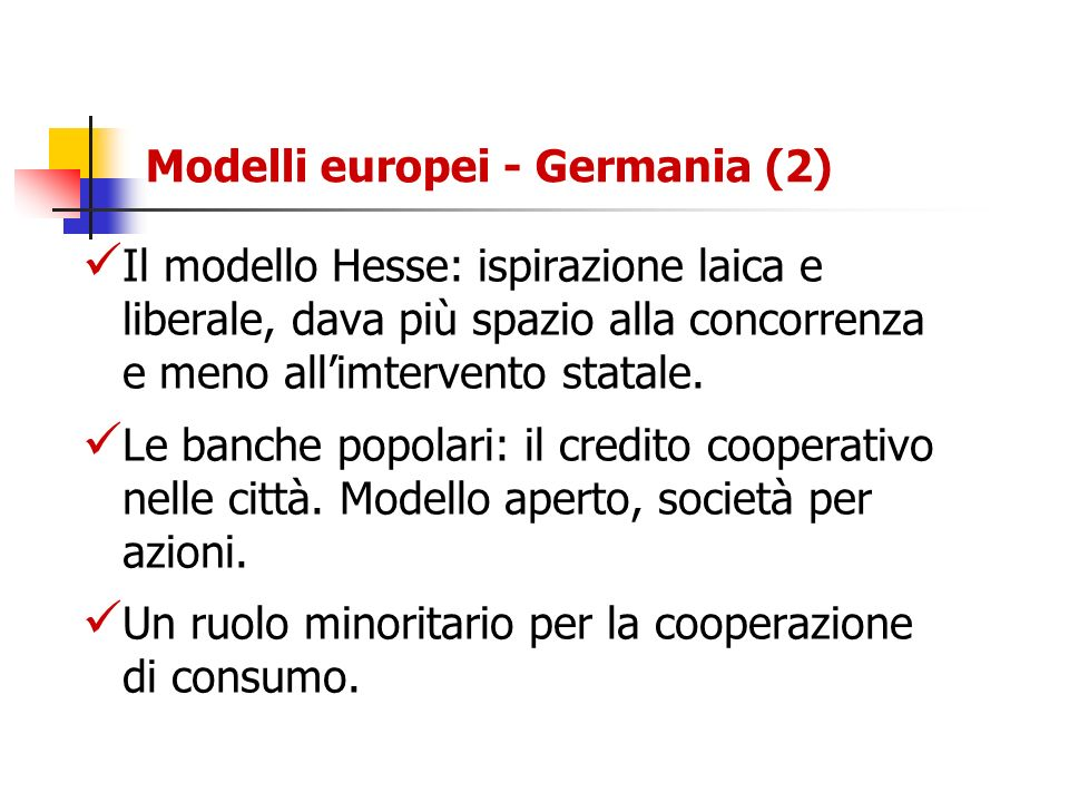 Modelli europei - Germania (2)