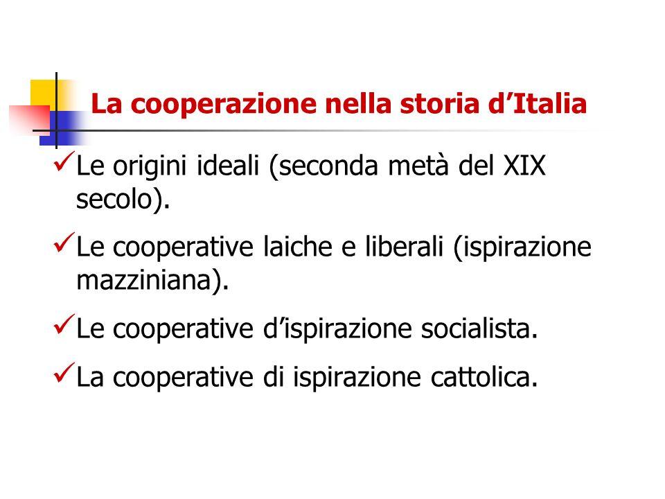 La cooperazione nella storia d'Italia