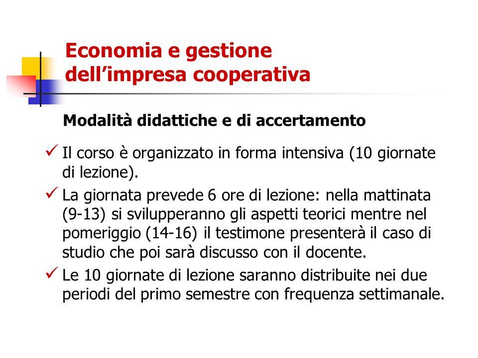 Economia e gestione dell'impresa cooperativa