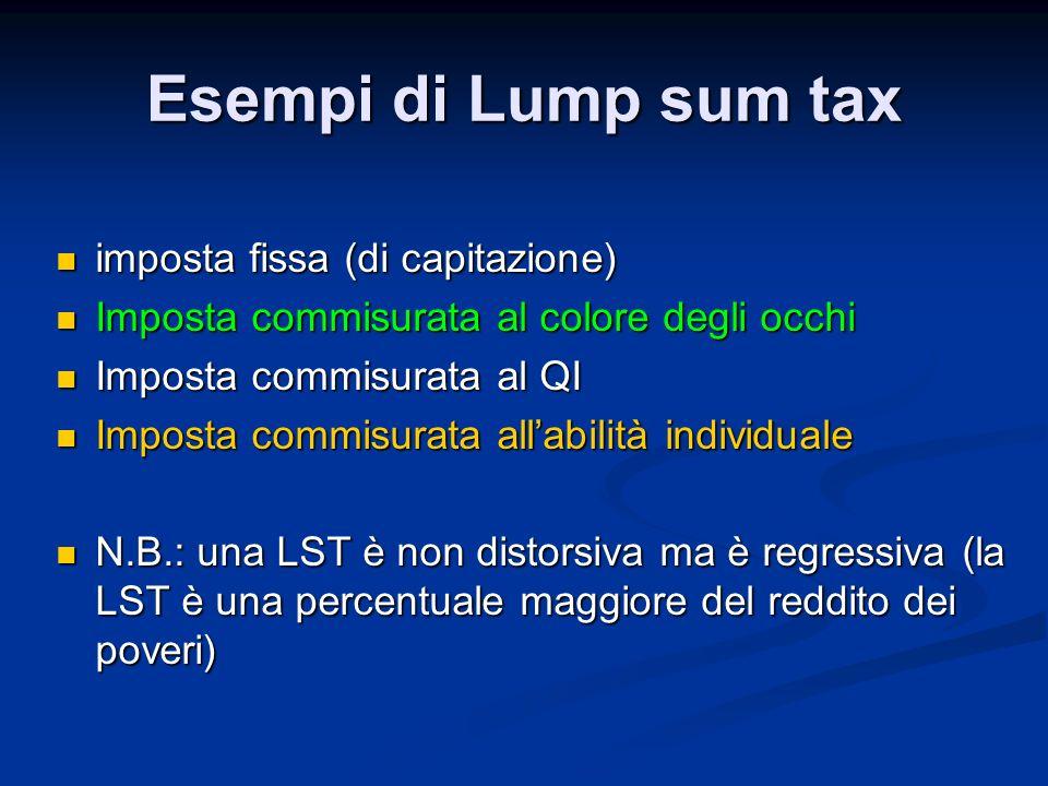 Esempi di Lump sum tax imposta fissa (di capitazione)