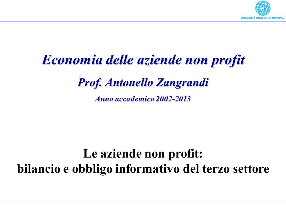 Economia delle aziende non profit