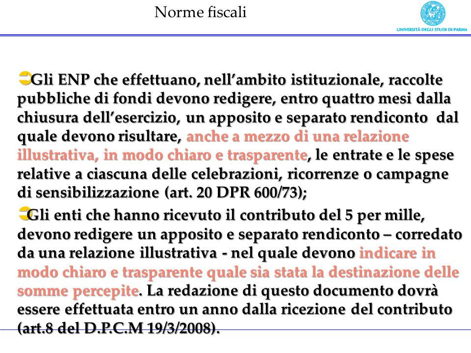 Norme fiscali
