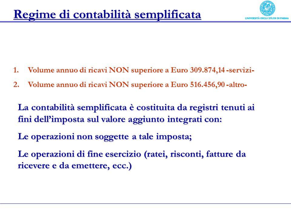Regime di contabilità semplificata
