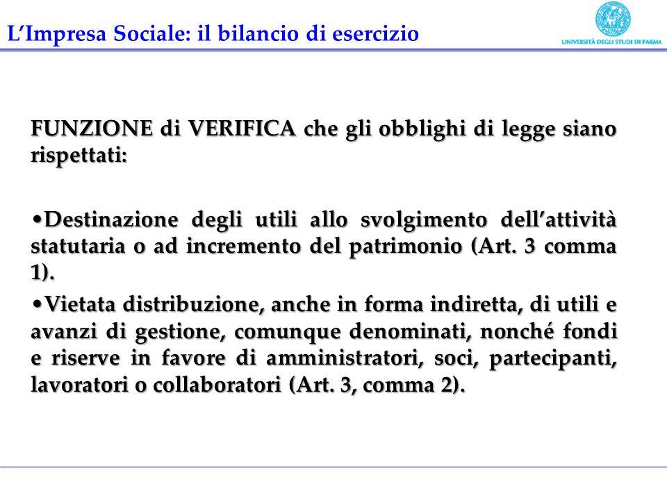 L'Impresa Sociale: il bilancio di esercizio