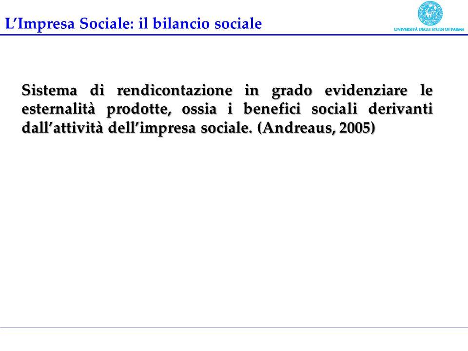 L'Impresa Sociale: il bilancio sociale