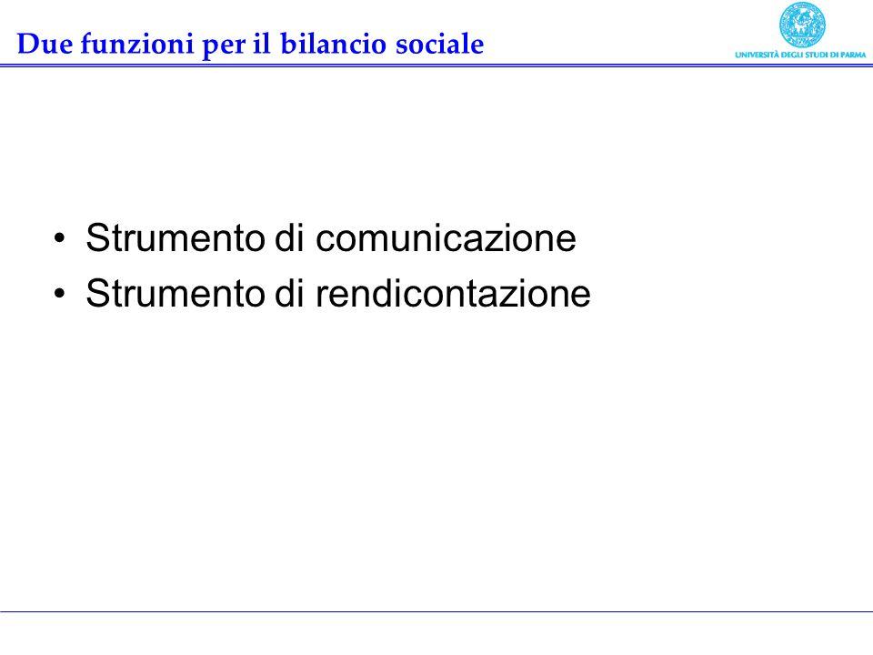 Due funzioni per il bilancio sociale