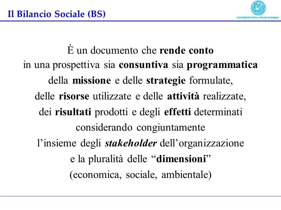 Il Bilancio Sociale (BS)