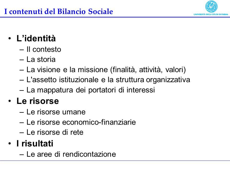 I contenuti del Bilancio Sociale