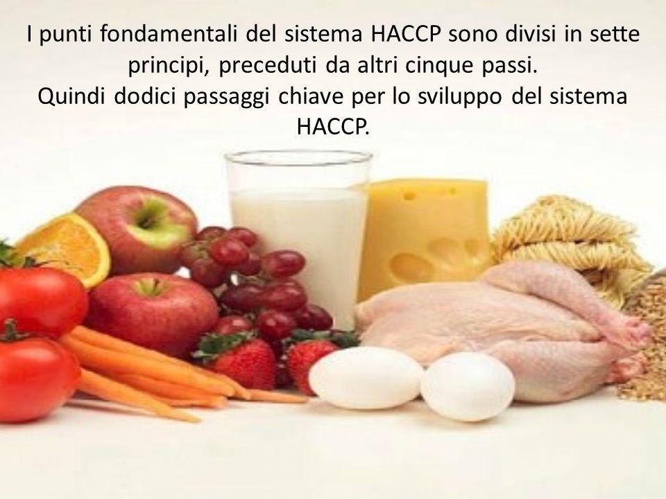 Quindi dodici passaggi chiave per lo sviluppo del sistema HACCP.