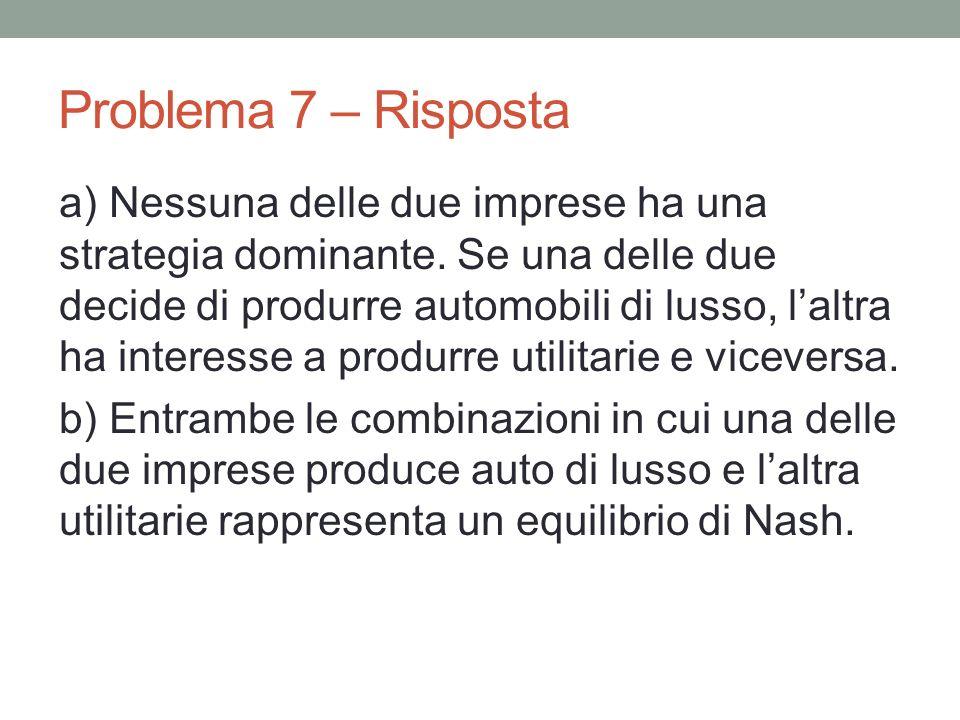 Problema 7 – Risposta