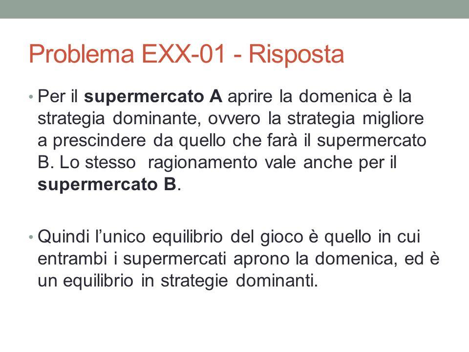 Problema EXX-01 - Risposta