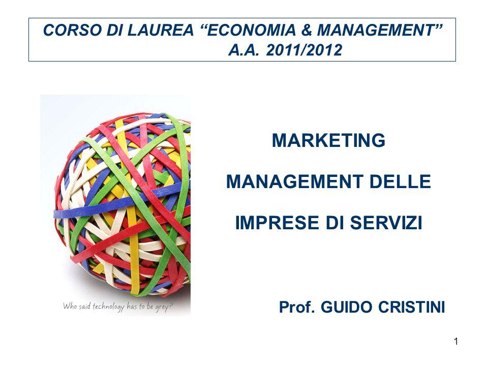 MARKETING MANAGEMENT DELLE IMPRESE DI SERVIZI