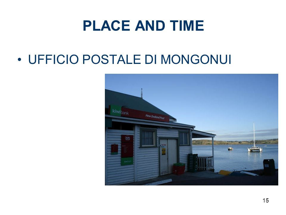 PLACE AND TIME UFFICIO POSTALE DI MONGONUI