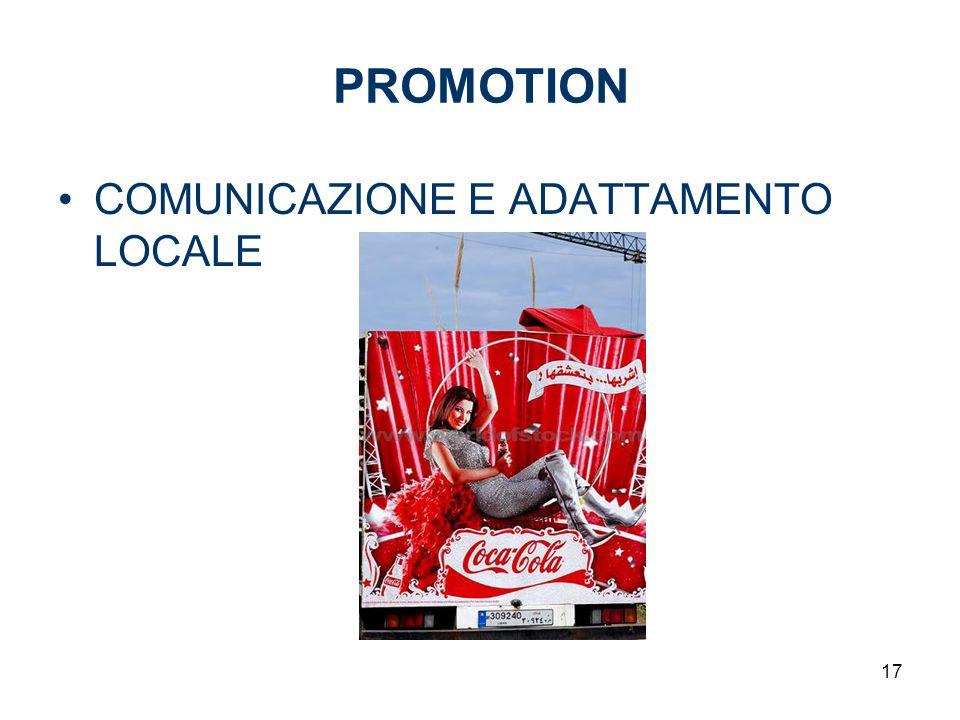 PROMOTION COMUNICAZIONE E ADATTAMENTO LOCALE 17