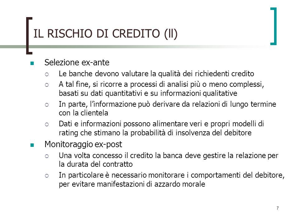 IL RISCHIO DI CREDITO (ll)