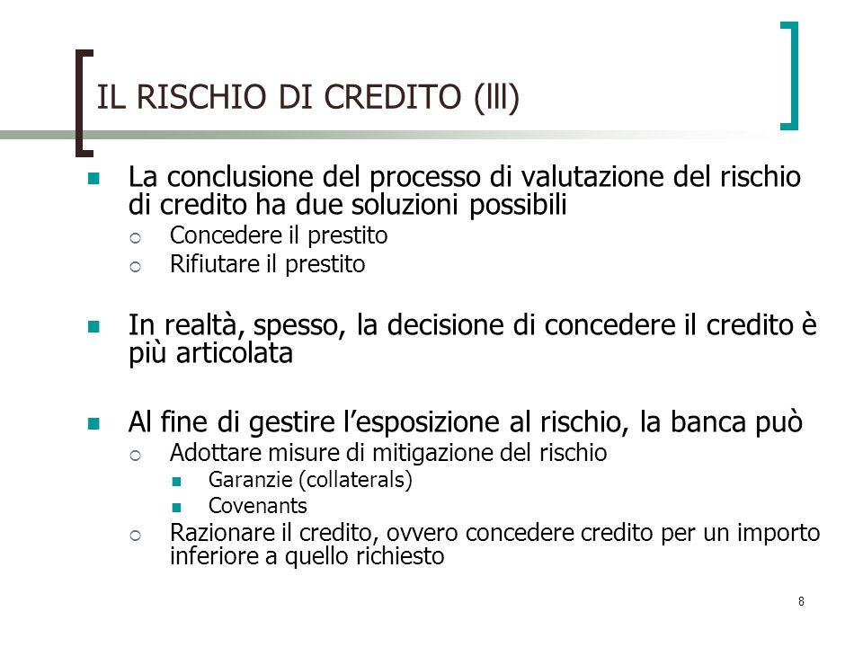 IL RISCHIO DI CREDITO (lll)