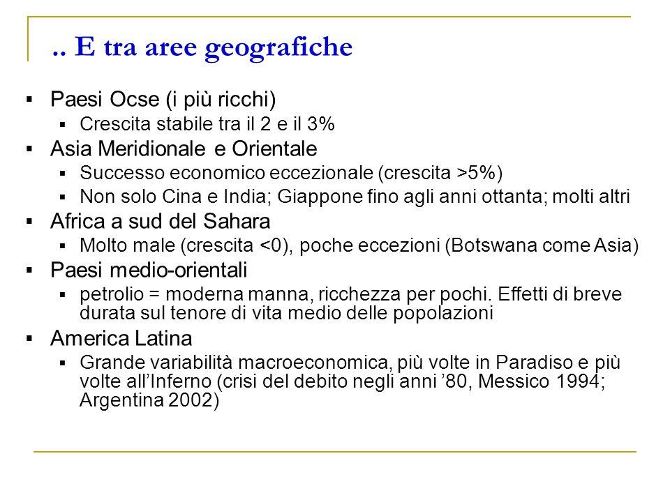 .. E tra aree geografiche Paesi Ocse (i più ricchi)