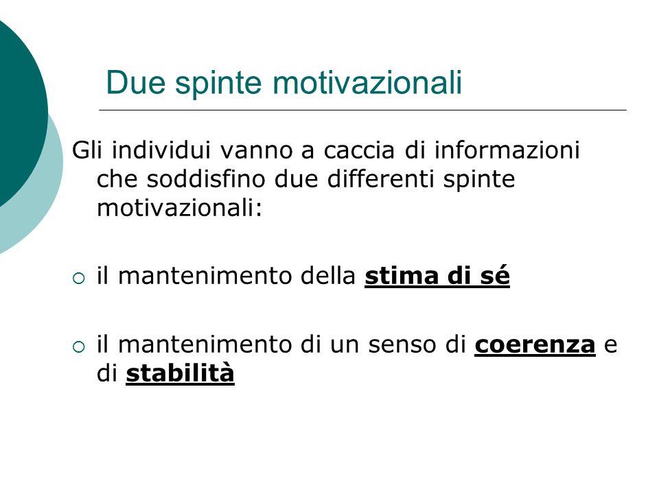 Due spinte motivazionali