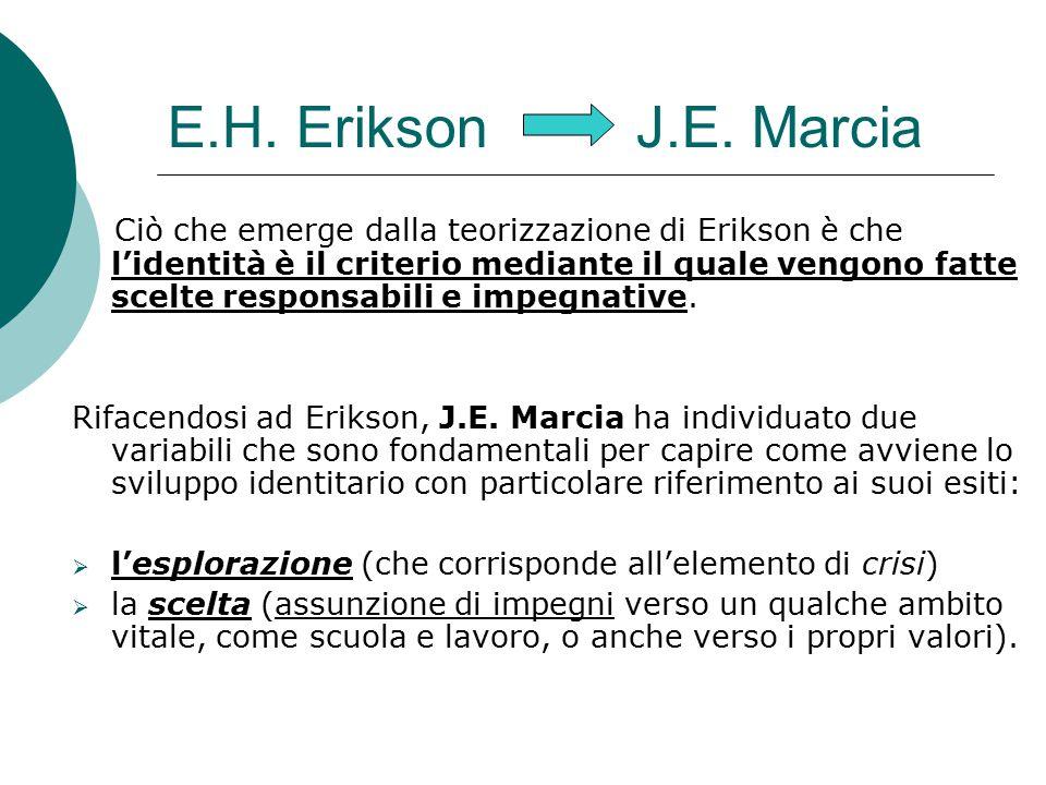 E.H. Erikson J.E. Marcia