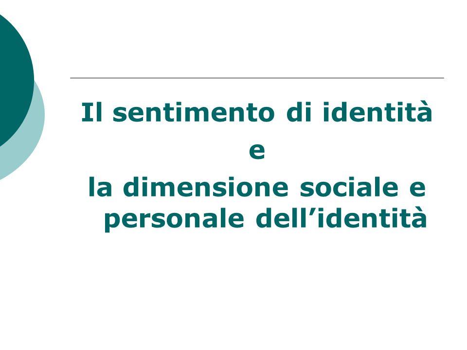 Il sentimento di identità e