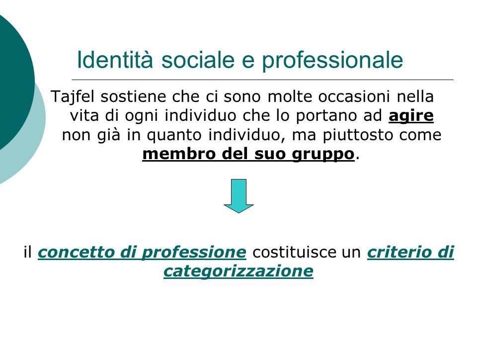 Identità sociale e professionale