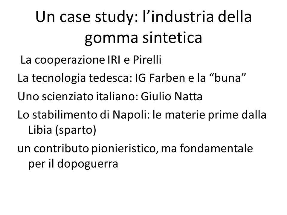 Un case study: l'industria della gomma sintetica