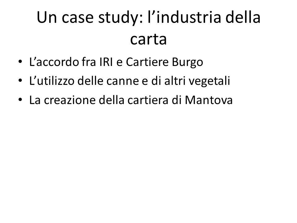 Un case study: l'industria della carta