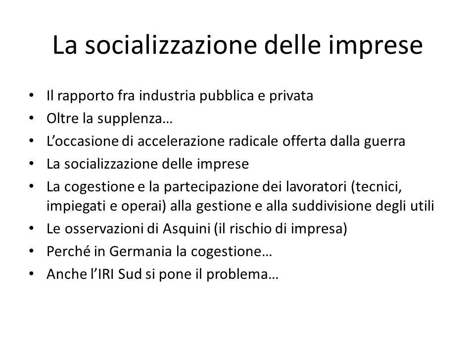 La socializzazione delle imprese