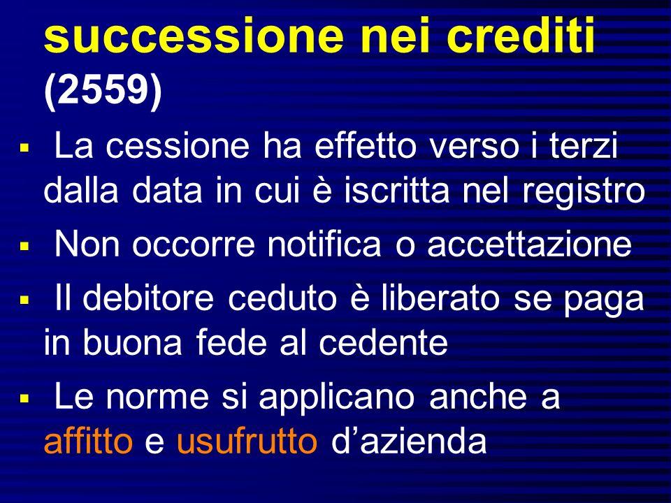 successione nei crediti (2559)